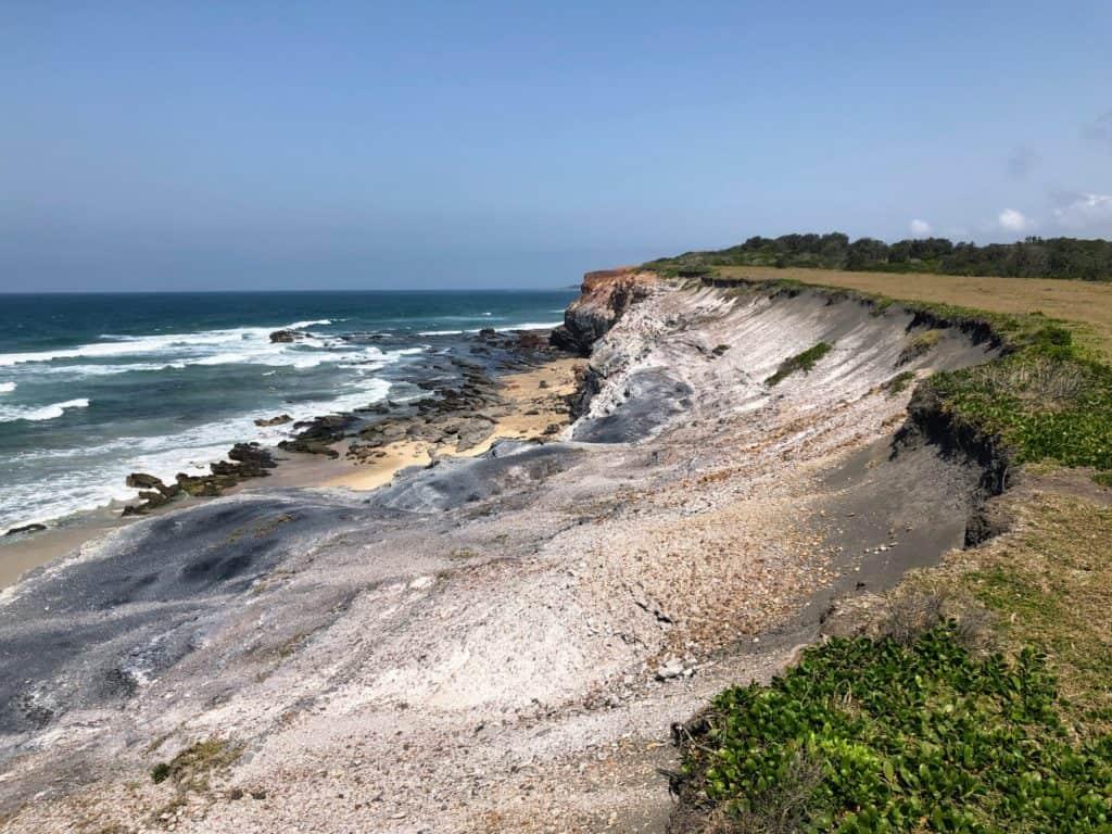 Yuraygir Coastal Walk Grey cliffs