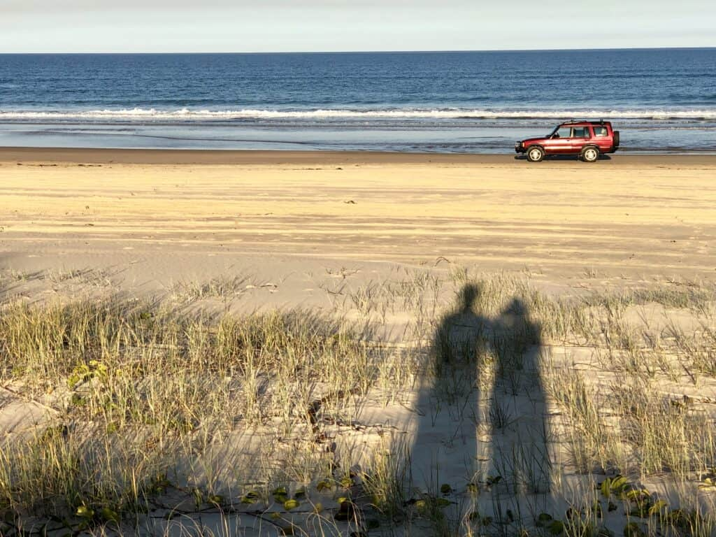 4WD Landrover on beach