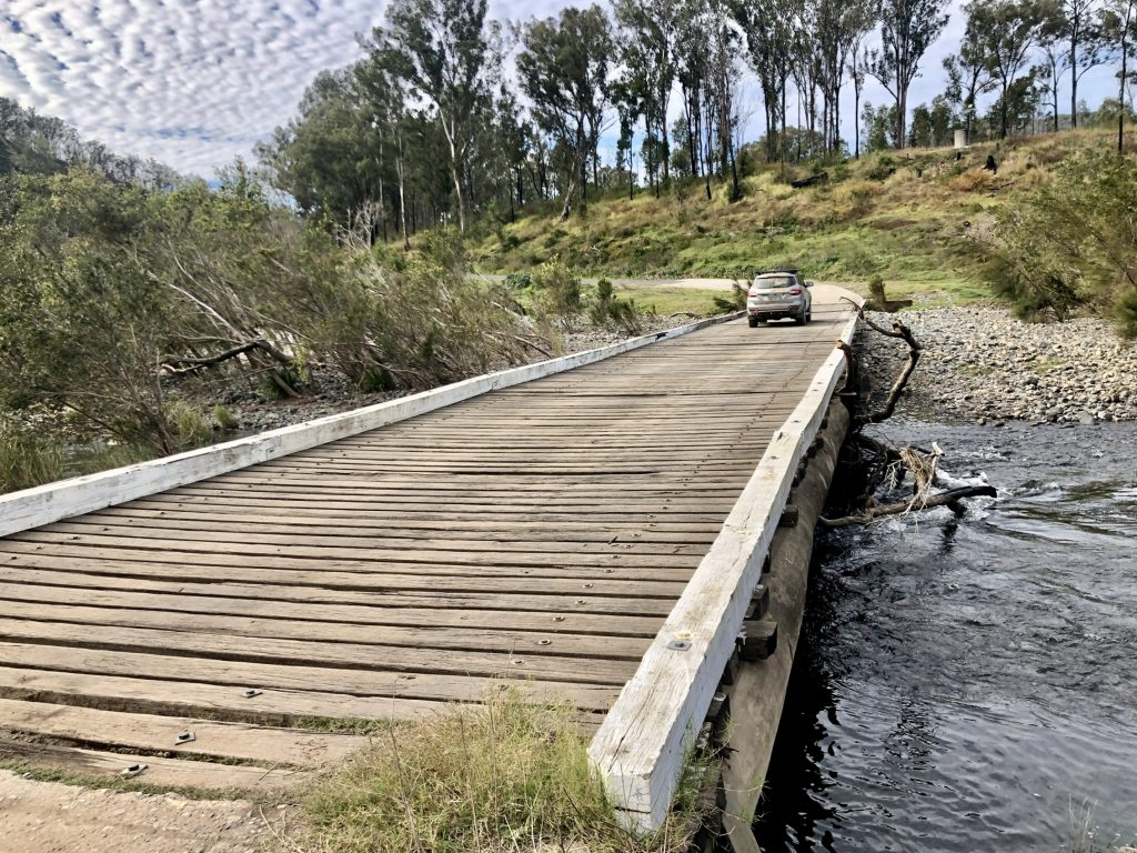 Paddys Flat Bridge across the upper Clarence River